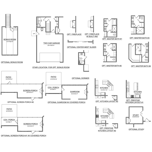 Available home detail billclarkhomes for The ansley floor plan