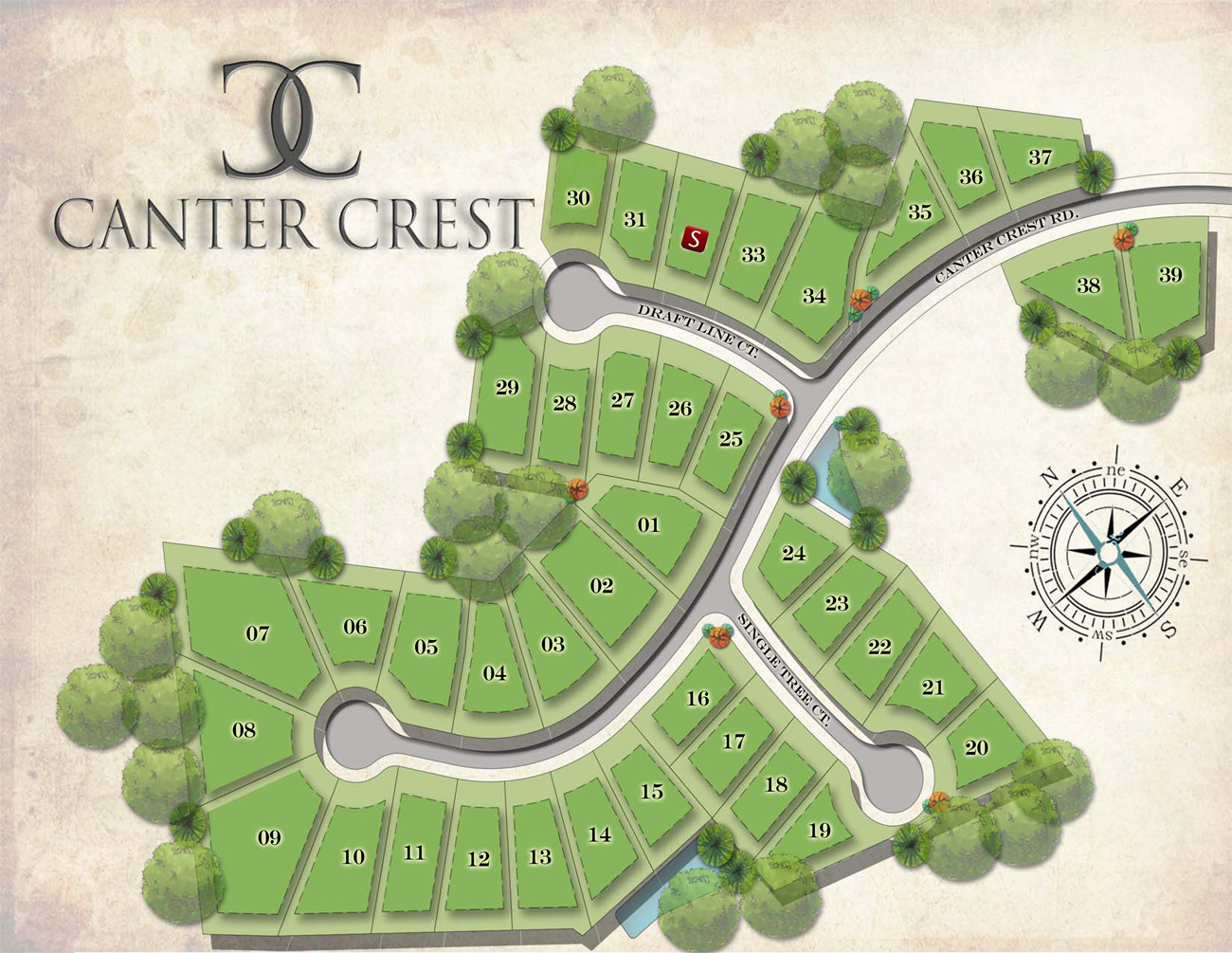 Canter-Crest-Site-map
